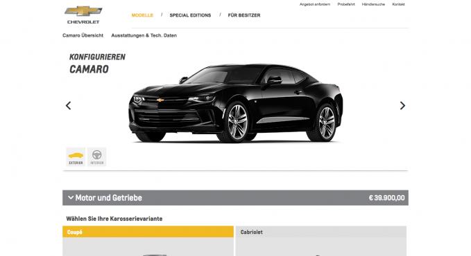 Chevrolet PKW & Au...