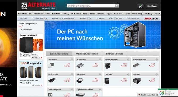 alternate pc konfigurator testbericht konfigurator. Black Bedroom Furniture Sets. Home Design Ideas
