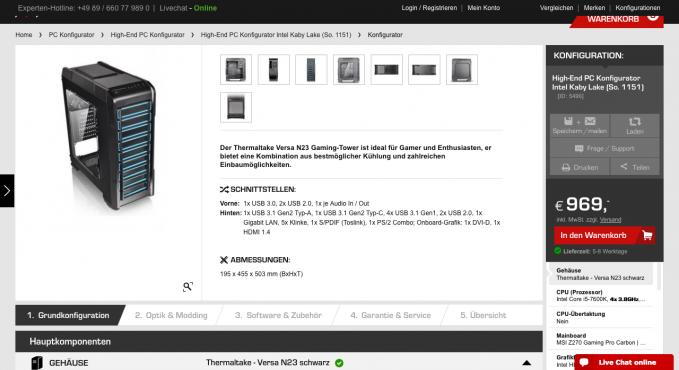 computer konfigurator vergleich und testsieger. Black Bedroom Furniture Sets. Home Design Ideas