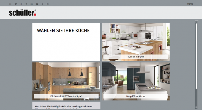 Schuller kuchen konfigurator testbericht konfigurator for Küchen konfigurator