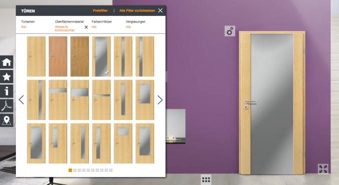westag t ren konfigurator testbericht konfigurator verzeichnis. Black Bedroom Furniture Sets. Home Design Ideas