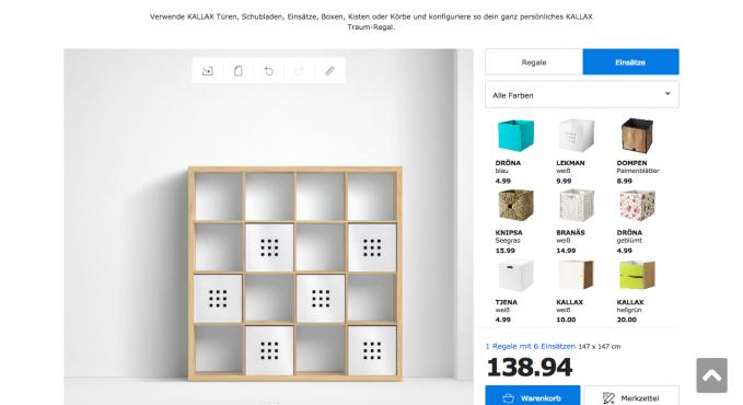 Ikea Kallax Regal Konfigurator Testbericht Konfigurator Verzeichnis