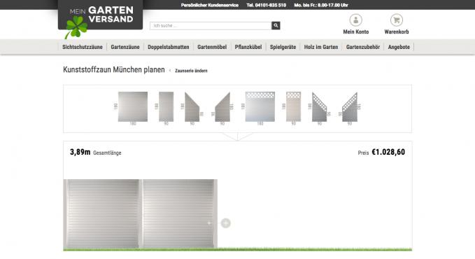 mein garten versand sichtschutz zaunkonfigurator testbericht konfigurator verzeichnis. Black Bedroom Furniture Sets. Home Design Ideas