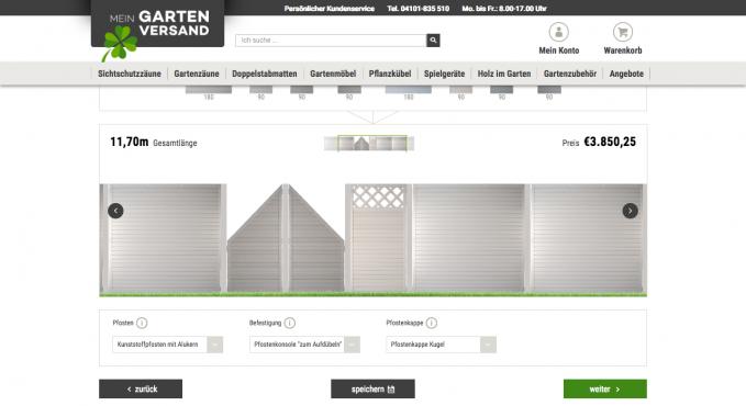 zaun und sichtschutz konfigurator vergleich und testsieger konfigurator verzeichnis. Black Bedroom Furniture Sets. Home Design Ideas